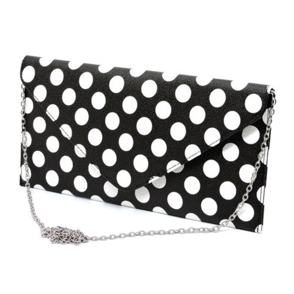 ELPHIS Handbags - Polka Dot Envelope Clutch